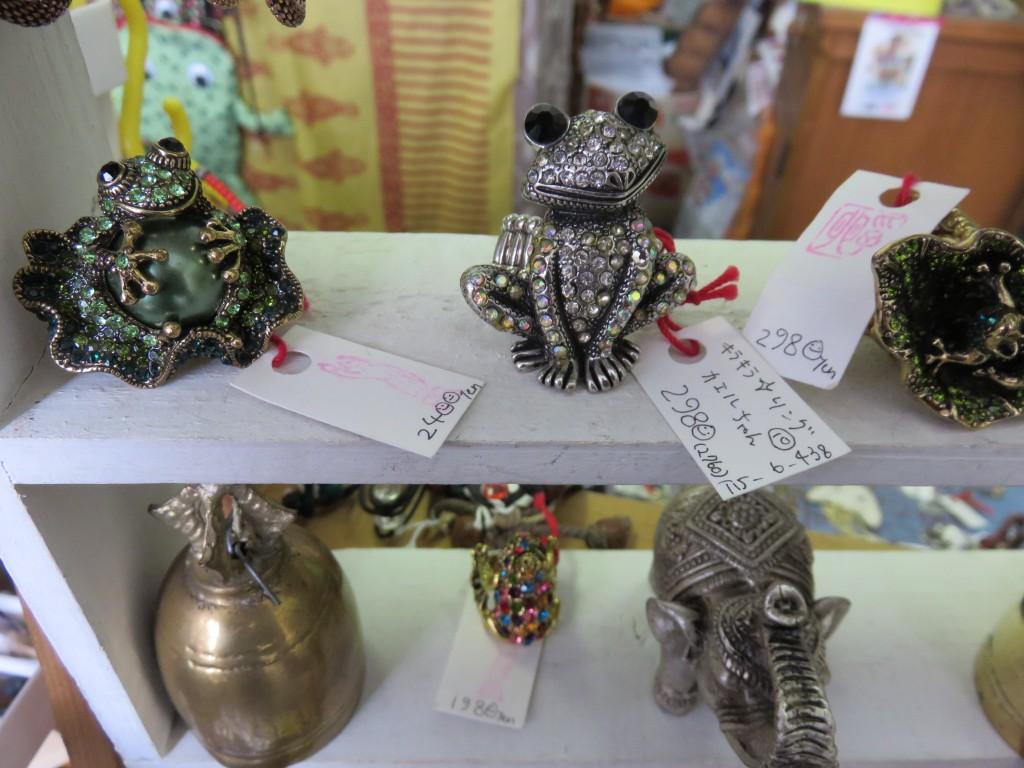 雑貨屋カエル蛙リング