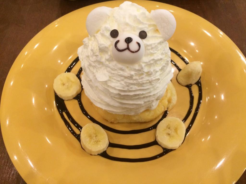 円山店限定のしろくまパンケーキ