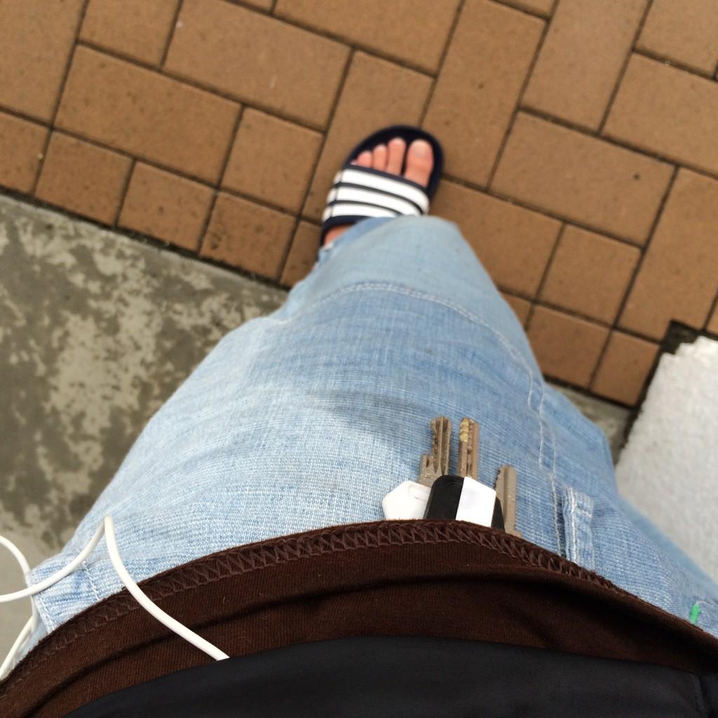 雨の日のズボン