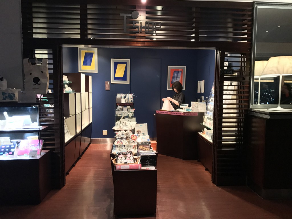 JRタワー展望室内の売店