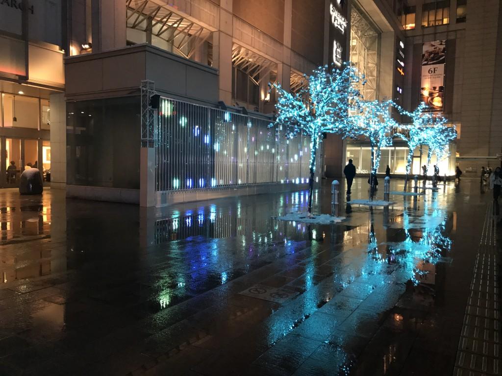 札幌駅前のイルミネーション