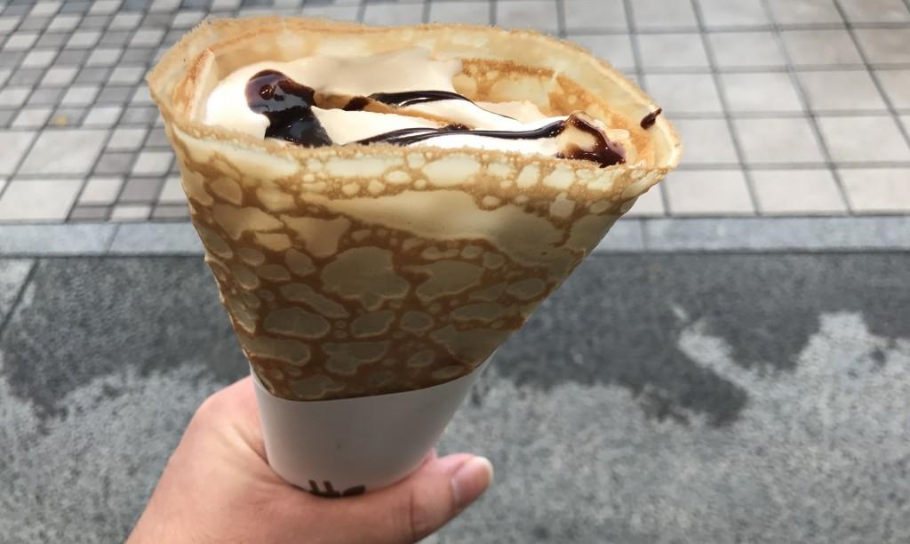 ジラフクレープ(チョコバナナ)