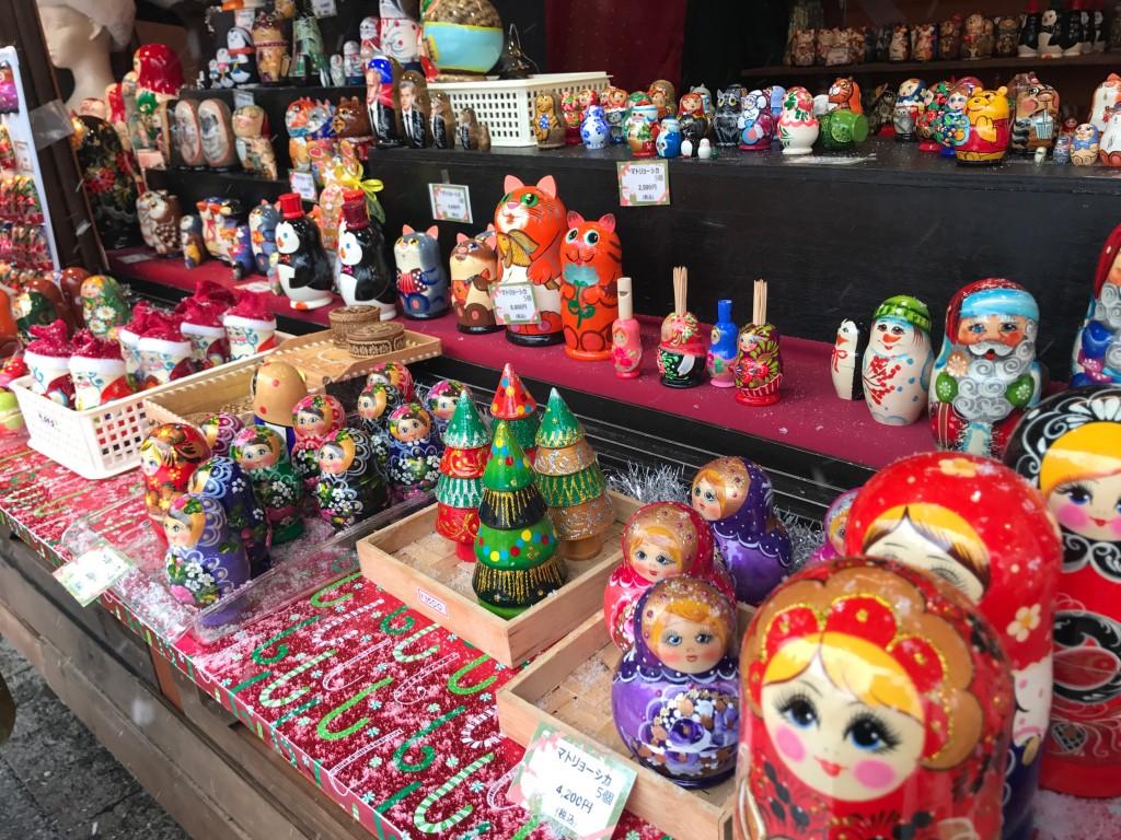 ミュンヘンクリスマス市で売ってるマトリョーシカ