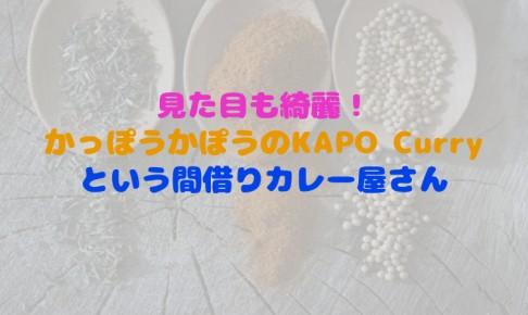 かっぽうかぽうのkapo-curry