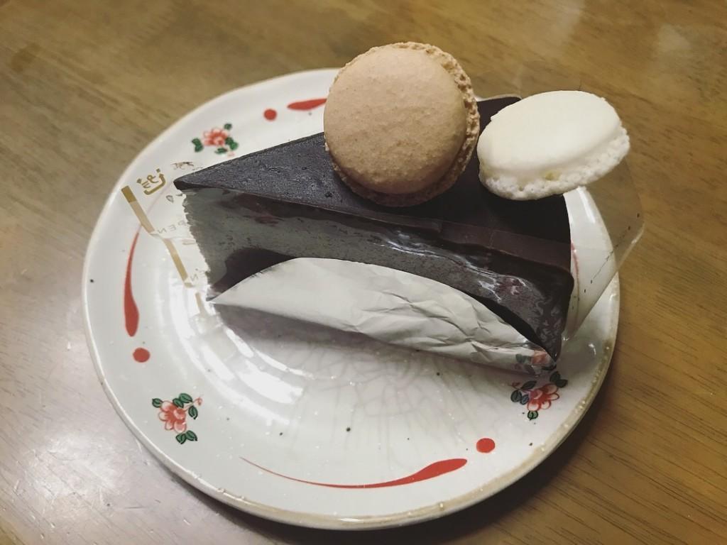 六花亭のチョコレートケーキ