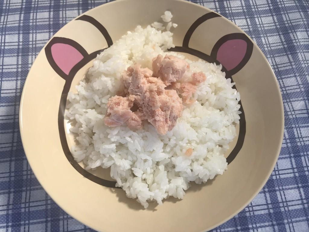 作った鮭とろご飯