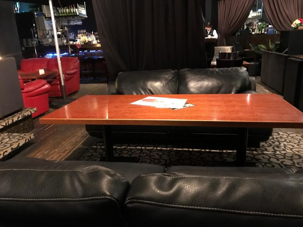 マジェスティックのソファー席
