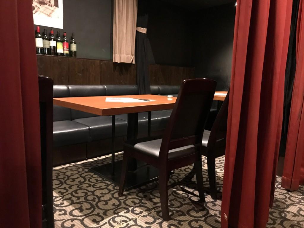 マジェスティックのテーブル席