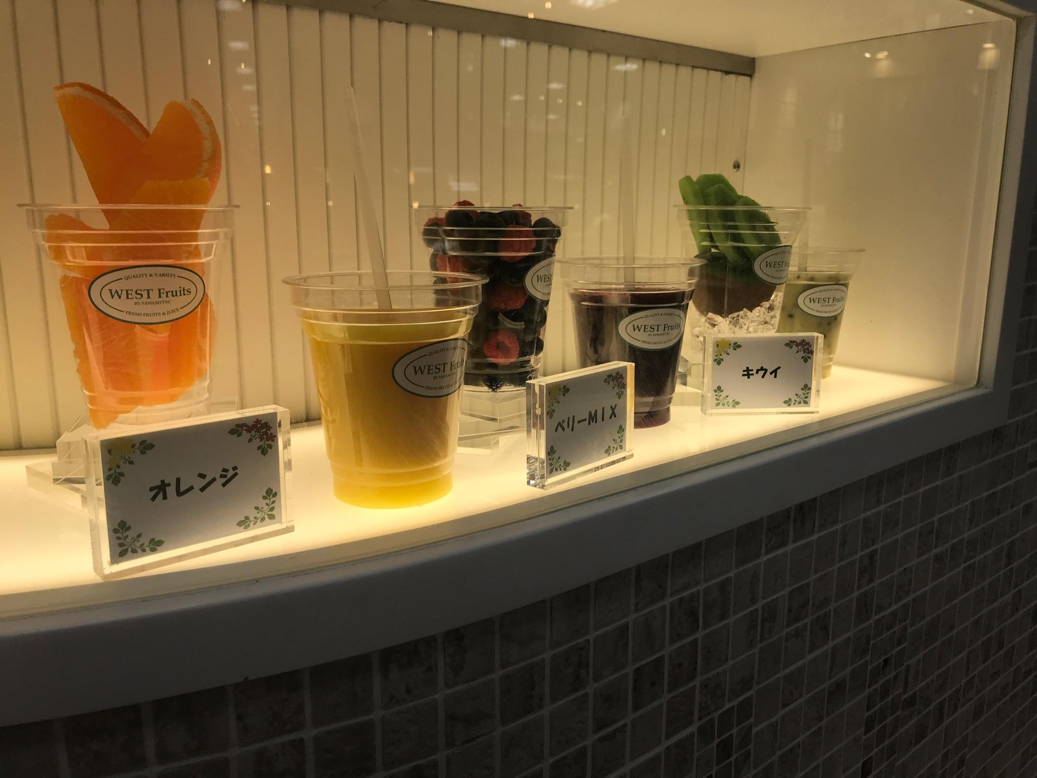 フルーツジュースのラインアップ