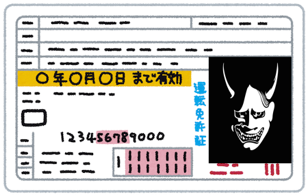 目つきの悪い新しい免許