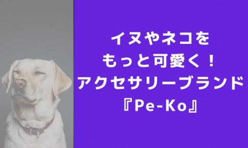 イヌやネコのアクセサリーブランド!Pe-Koが新しくオープン!