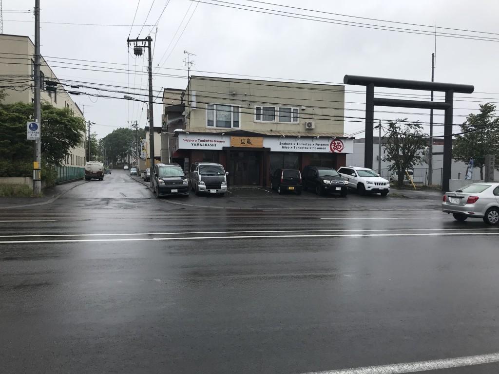 36号線沿いにできた清田区の山嵐