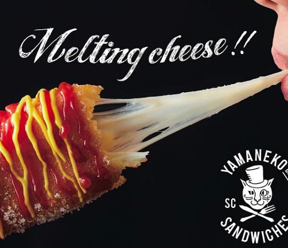 山猫バルサンドウィッチーズのチーズハットグのポスター