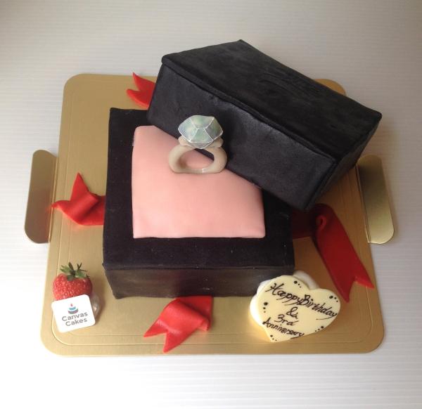 Canvas Cakesのオーダーメイドケーキ『指輪』