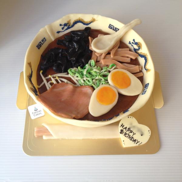 Canvas Cakesのオーダーメイドケーキ『ラーメン』