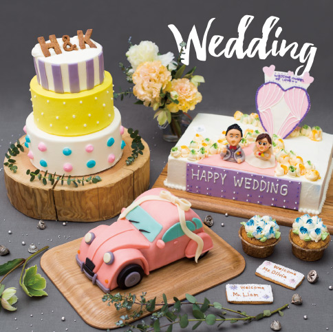 Canvas Cakesのオーダーメイドケーキ『ウエディングケーキ』