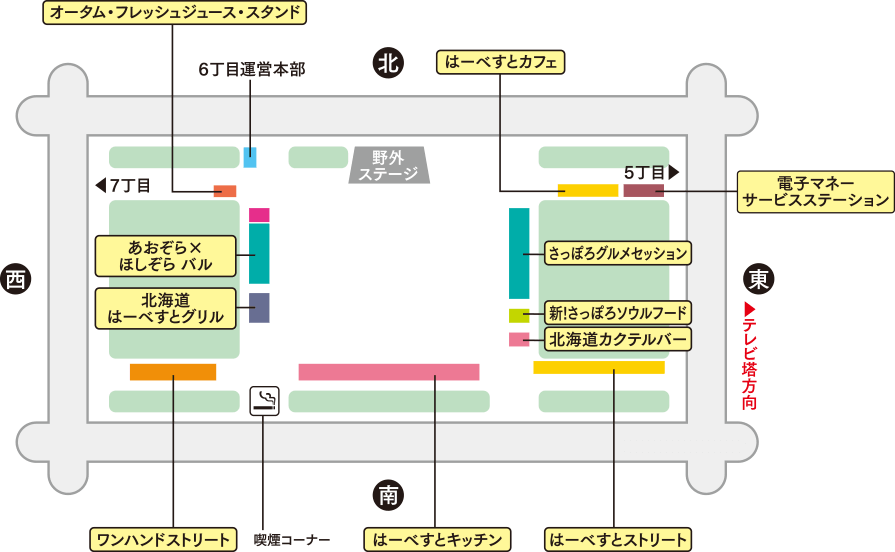 6丁目会場のマップ