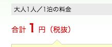 大人1人1円