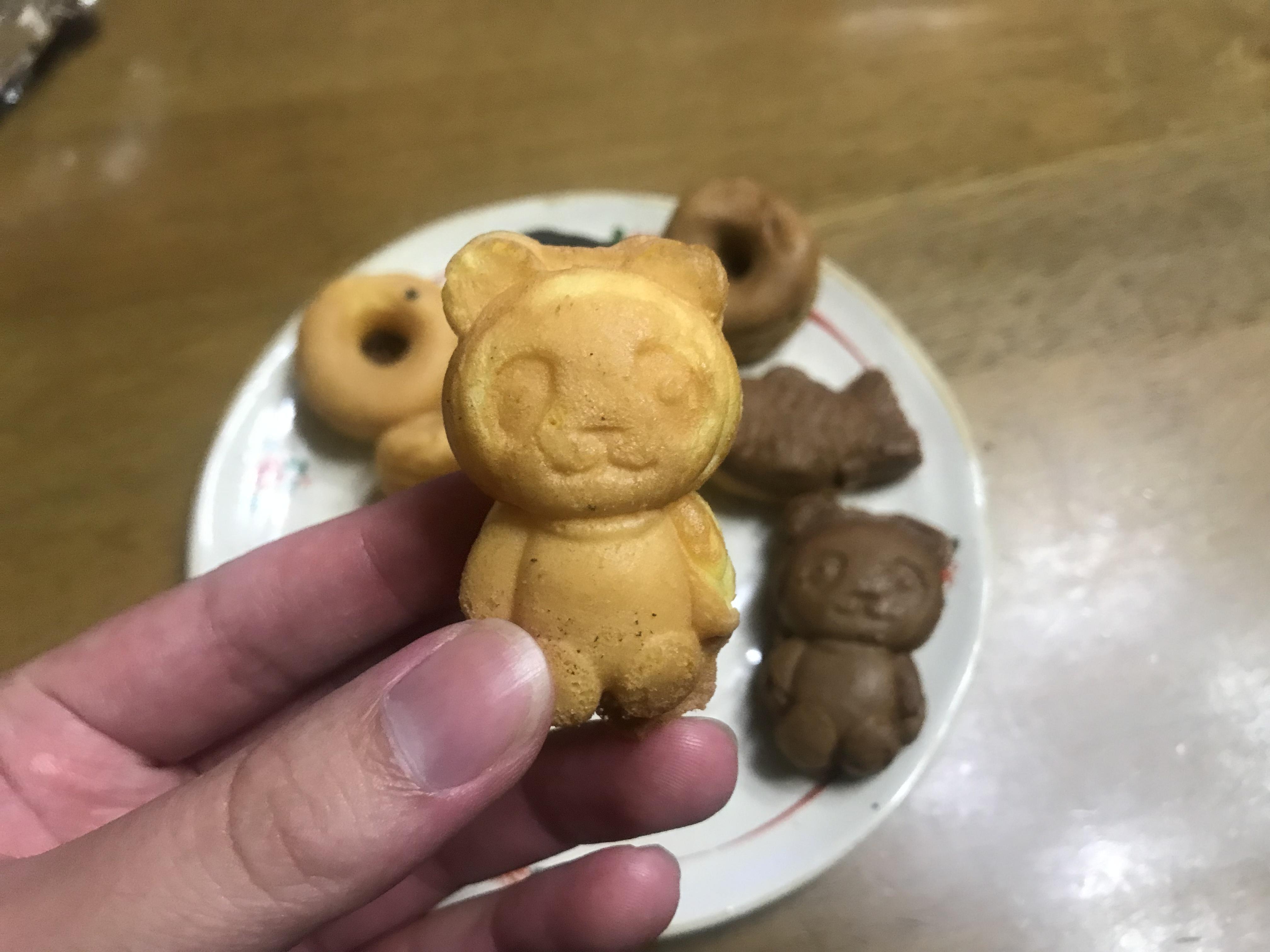 クマの形をしたスイーツ