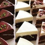 バニラムースとコーヒーブラウニーのケーキ