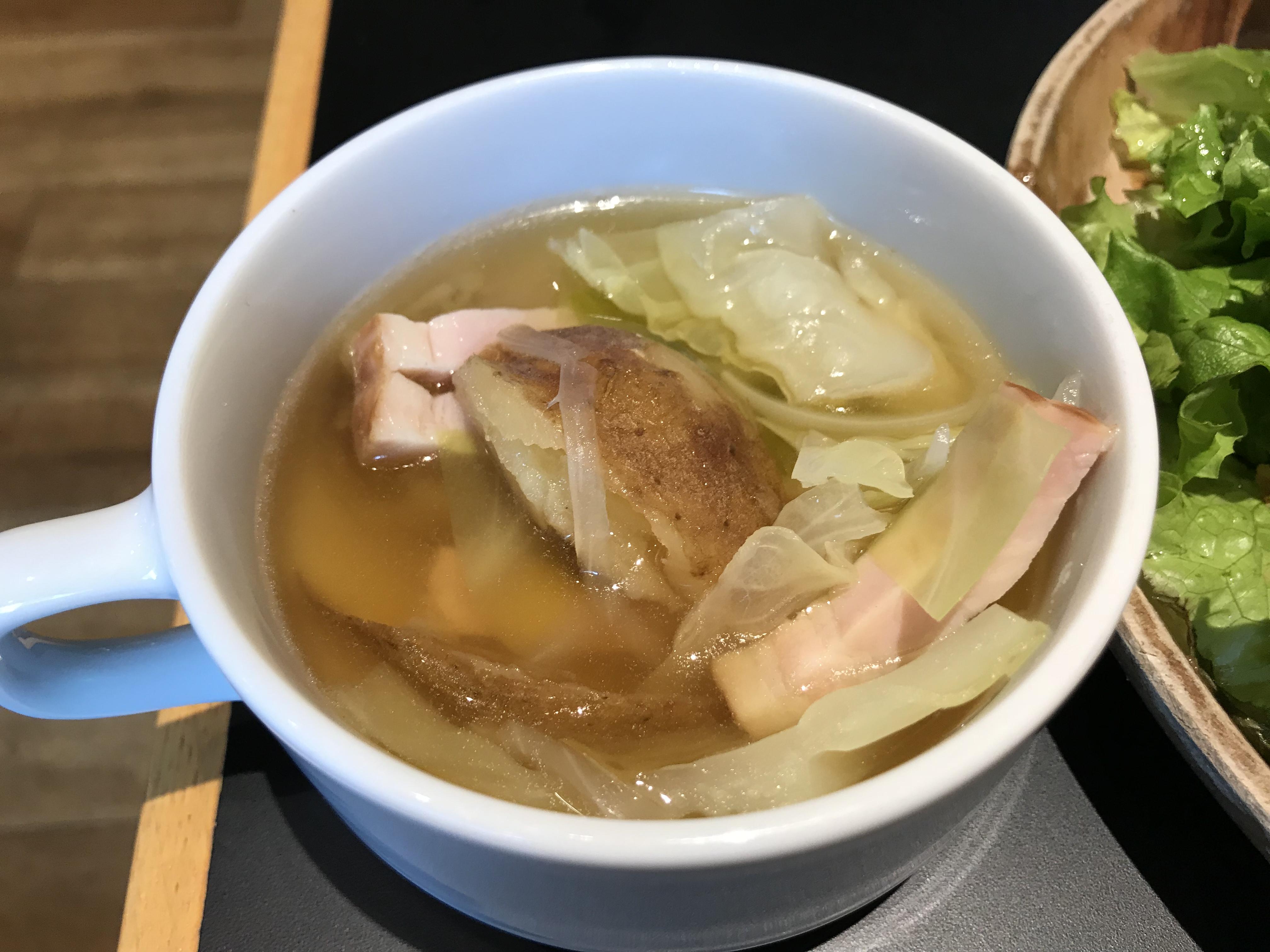 スープもいもが甘くて美味しかった