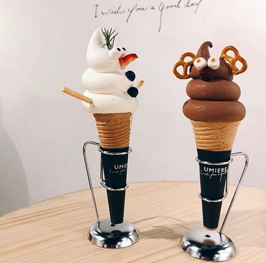 ウミエールのクリスマス限定ソフトクリーム