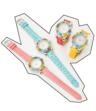 アトソフィーのヴェネチアングラス腕時計