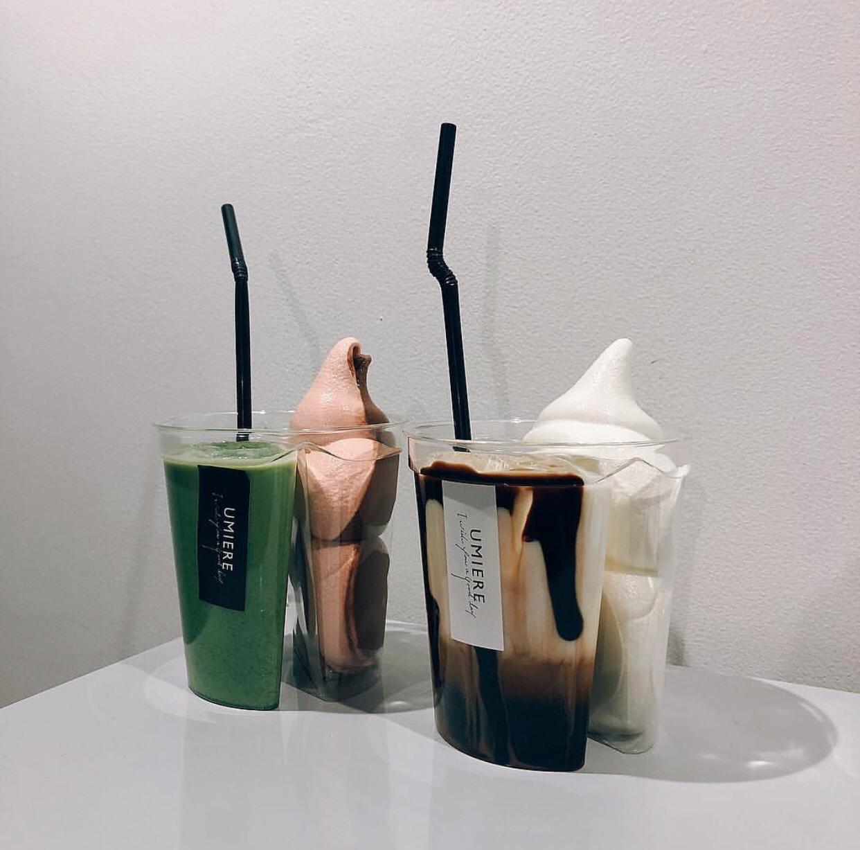 ウミエールでソフトクリームとドリンクを一度に楽しめるスペシャルセットが登場!