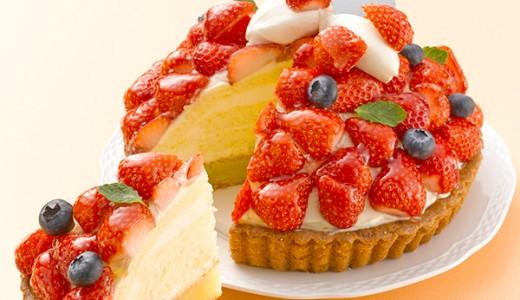 きのとやで季節のケーキ『たっぷりいちごのタルト』が発売!