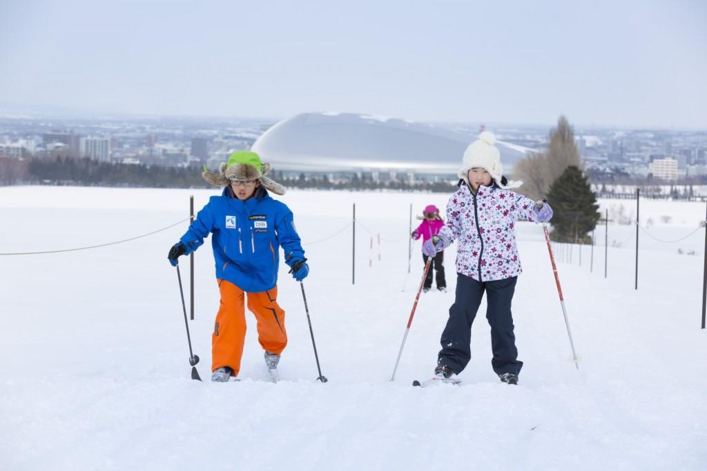 羊ヶ丘スノーパークの歩くスキー