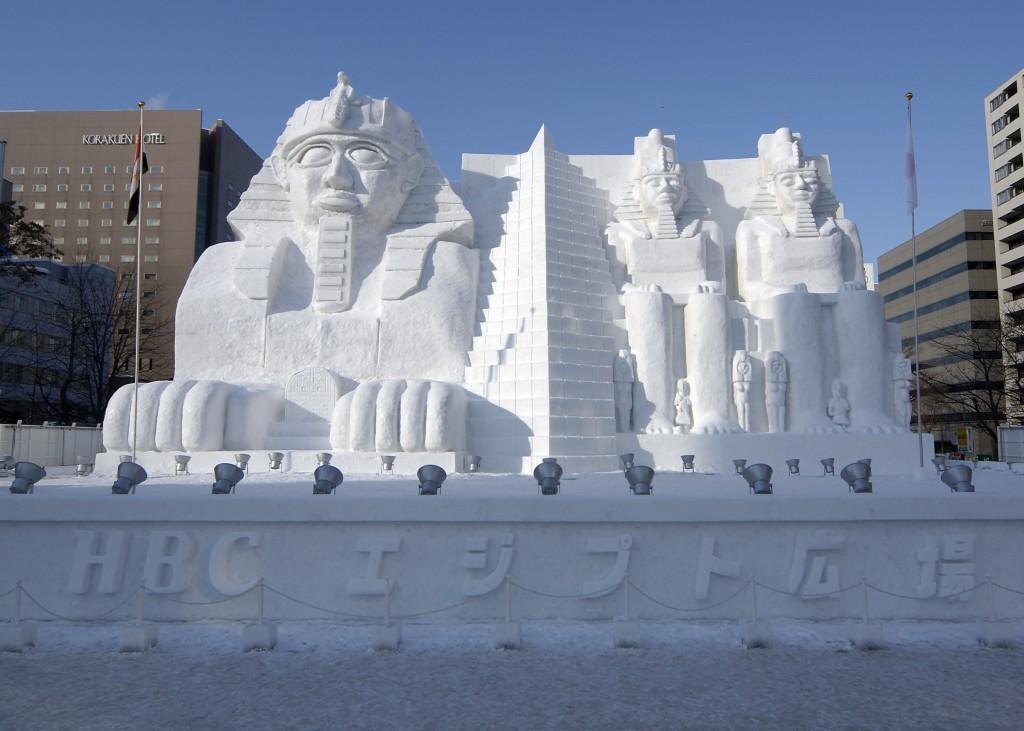 大通会場の雪像