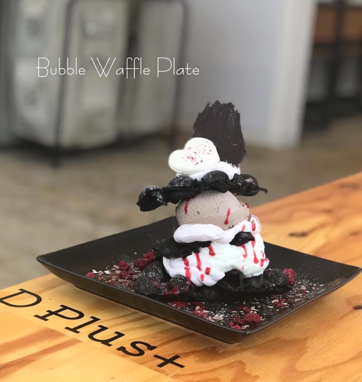 cafe D+(カフェ ディープラス)のバブルワッフルプレート