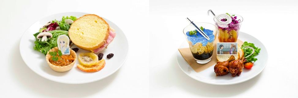 アリスの差し入れサンドイッチ、キリト&ソルティリーナのパスタプレート