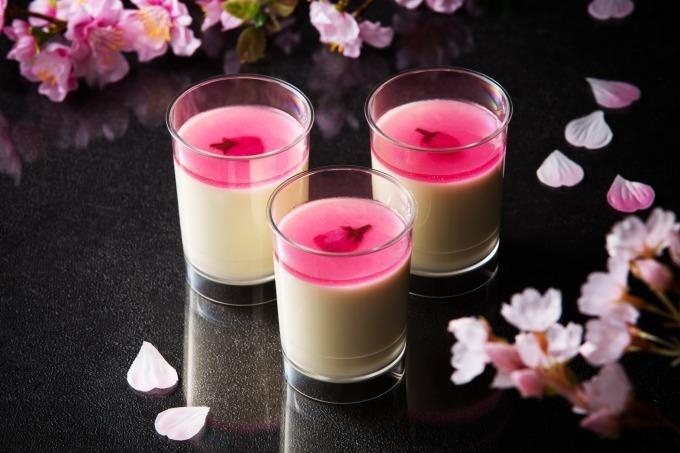 とろけるチーズプリン‐桜