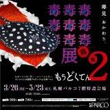 毒たっぷりの危険な生き物を集めた『毒毒毒毒毒毒毒毒毒展 痛 もうどくてん2』が札幌パルコで開催!