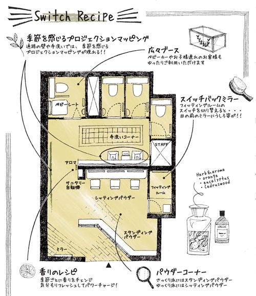 さっぽろ東急百貨店にできた多機能型婦人用レストルーム『スイッチルーム』