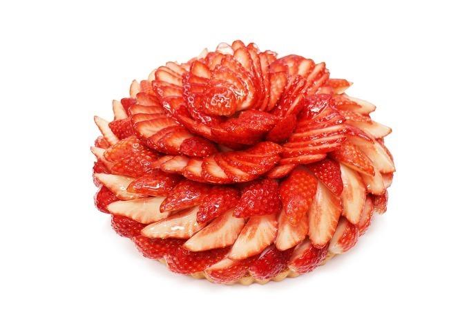 茨城産のいちごを使用したケーキ