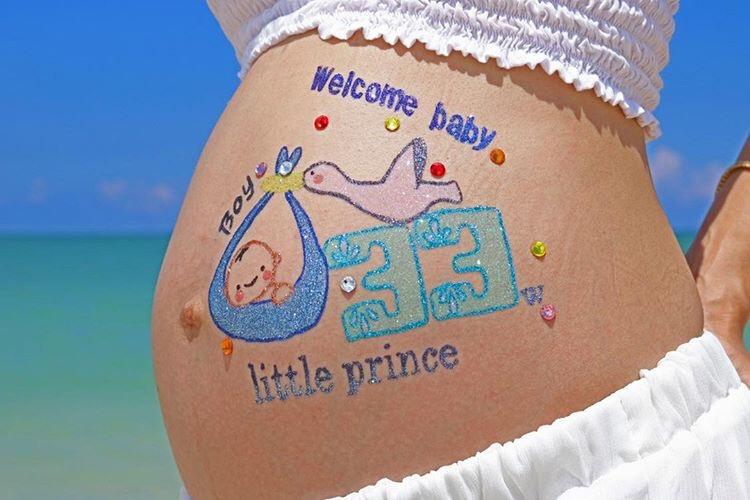 baby cakasで行なっている妊婦さんのためのアート『マタニティアート』