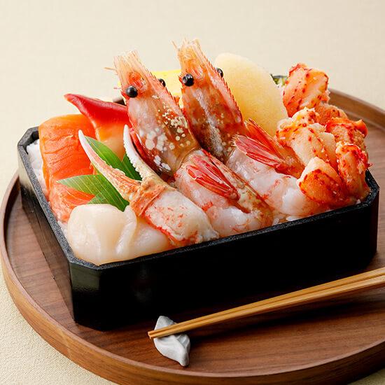 海の里の花咲蟹とボタンえびの味わい弁当