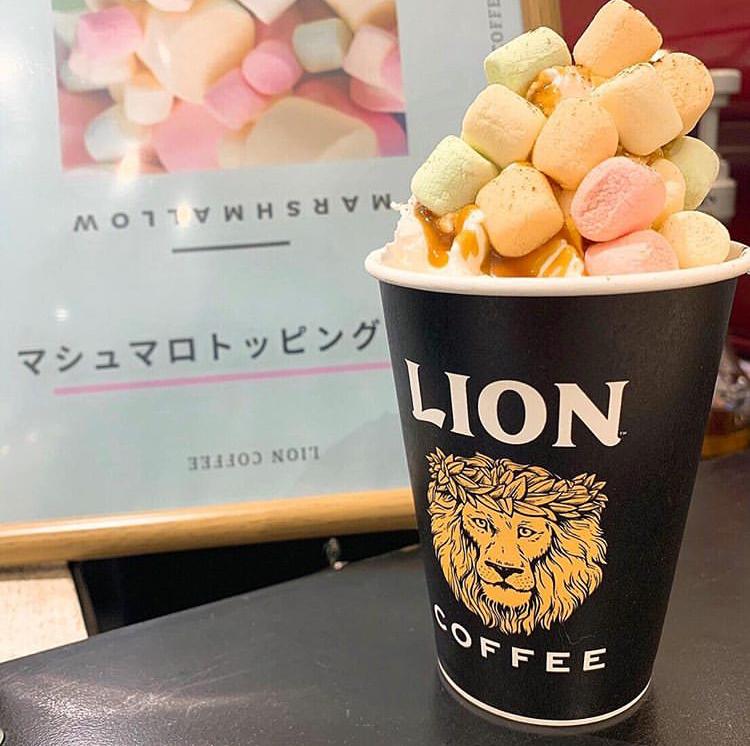 ライオンコーヒーでマシュマロのトッピングが期間限定で無料に