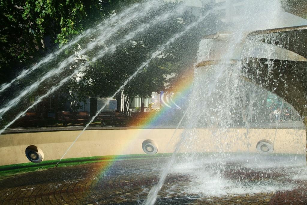 大通公園にある噴水