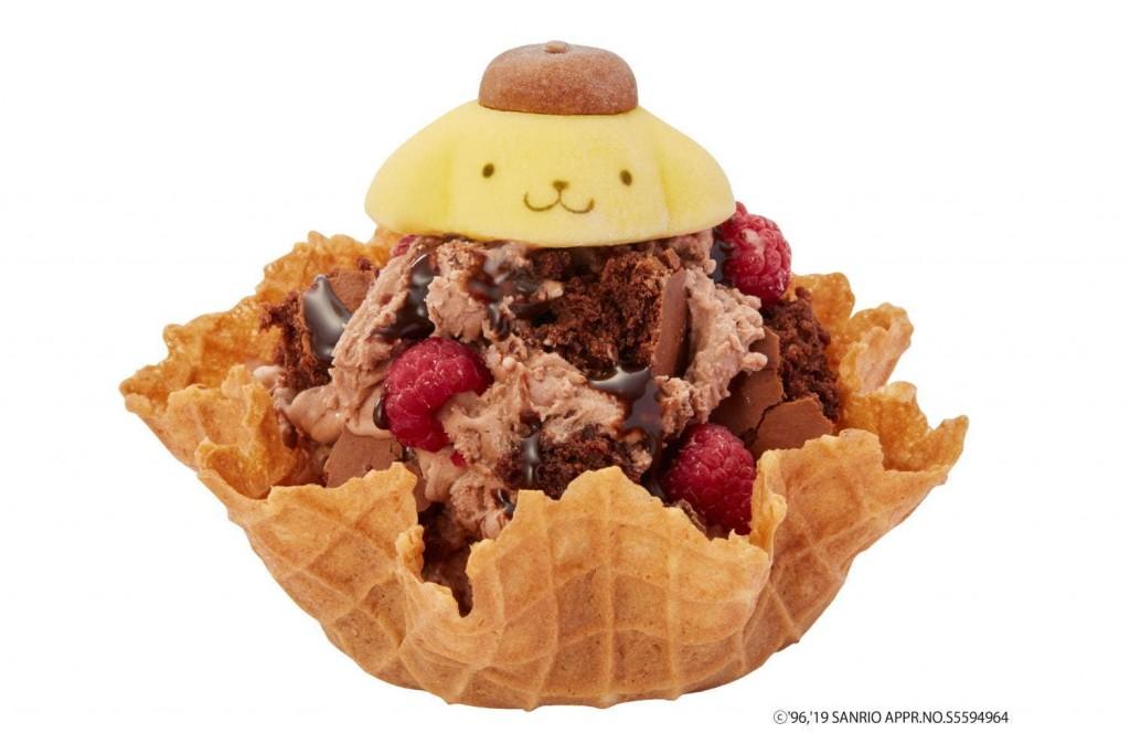 ポムポムプリンのチョコレートヤミーベリー帽 750円(税込)