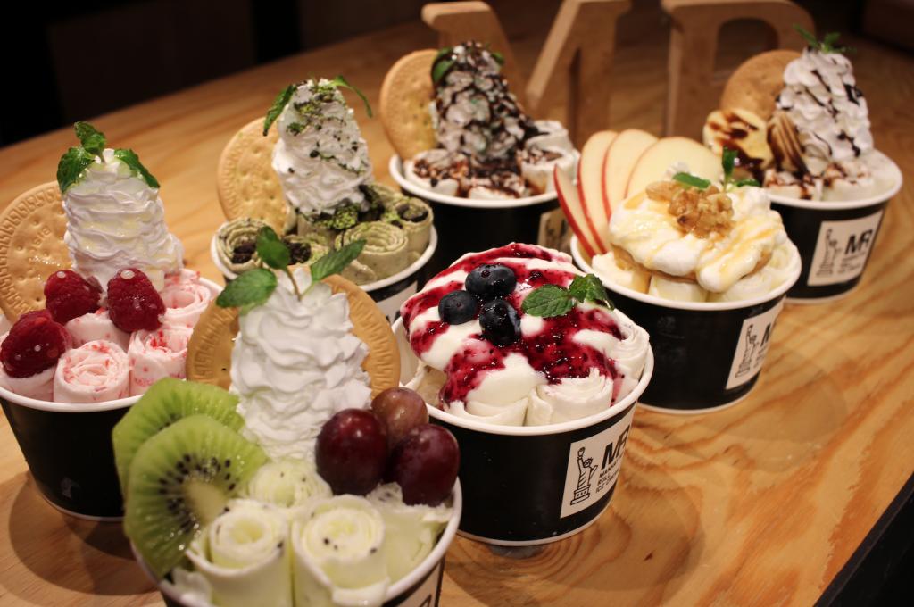 マンハッタンロールアイスクリームのアイスクリーム