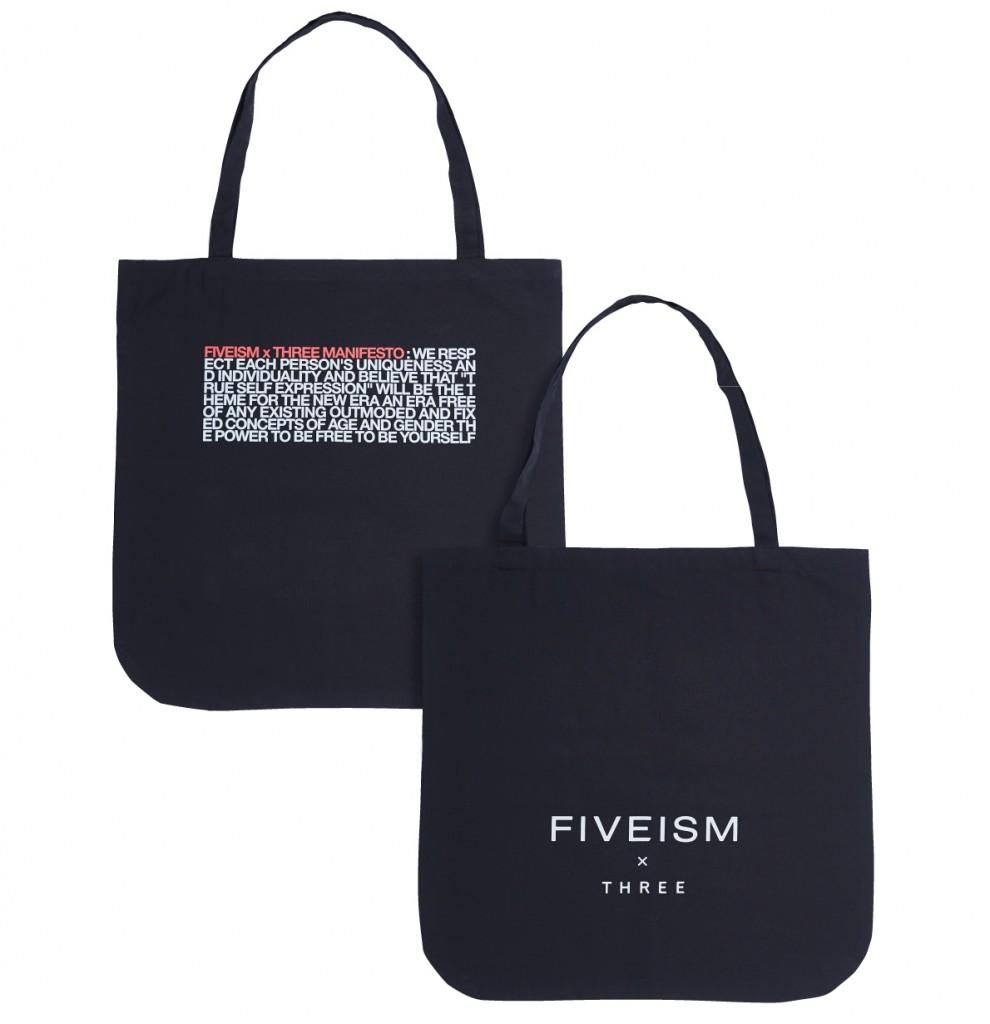 FIVEISM × THREEのオリジナルトートバッグ