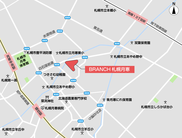 BRANCH 札幌月寒(ブランチ さっぽろつきさむ)の地図