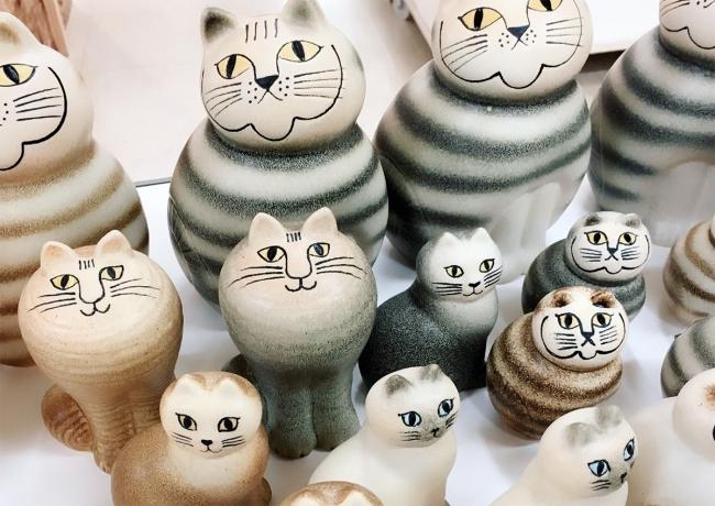リサ・ラーソンの陶器のオブジェ