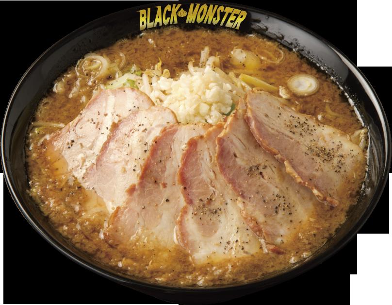 嵐げんこつ BLACK MONSTERチャーシューメン(990円税込み)