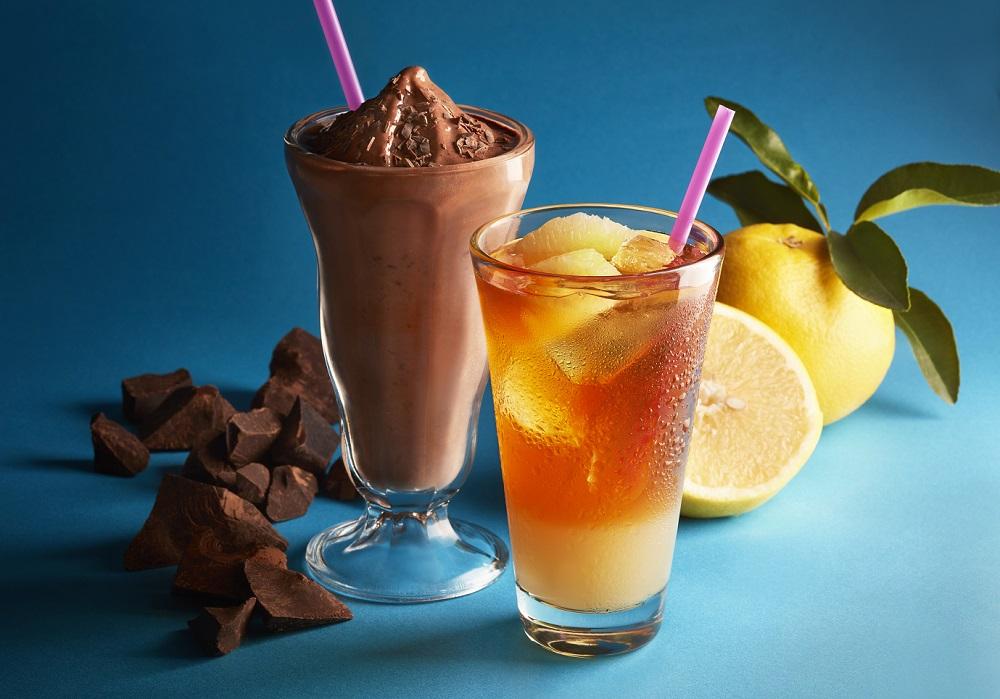 タリーズコーヒーのチョコリスタ(SHAKE)・&TEA グレープフルーツセパレートティー