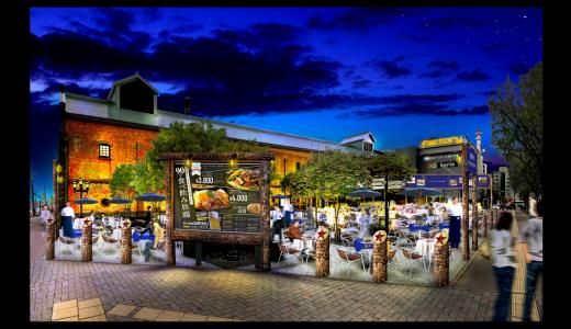 札幌市内で最も早いビヤガーデン『札幌開拓使ジンギスカンビヤガーデン』がファクトリー レンガ館前で開催