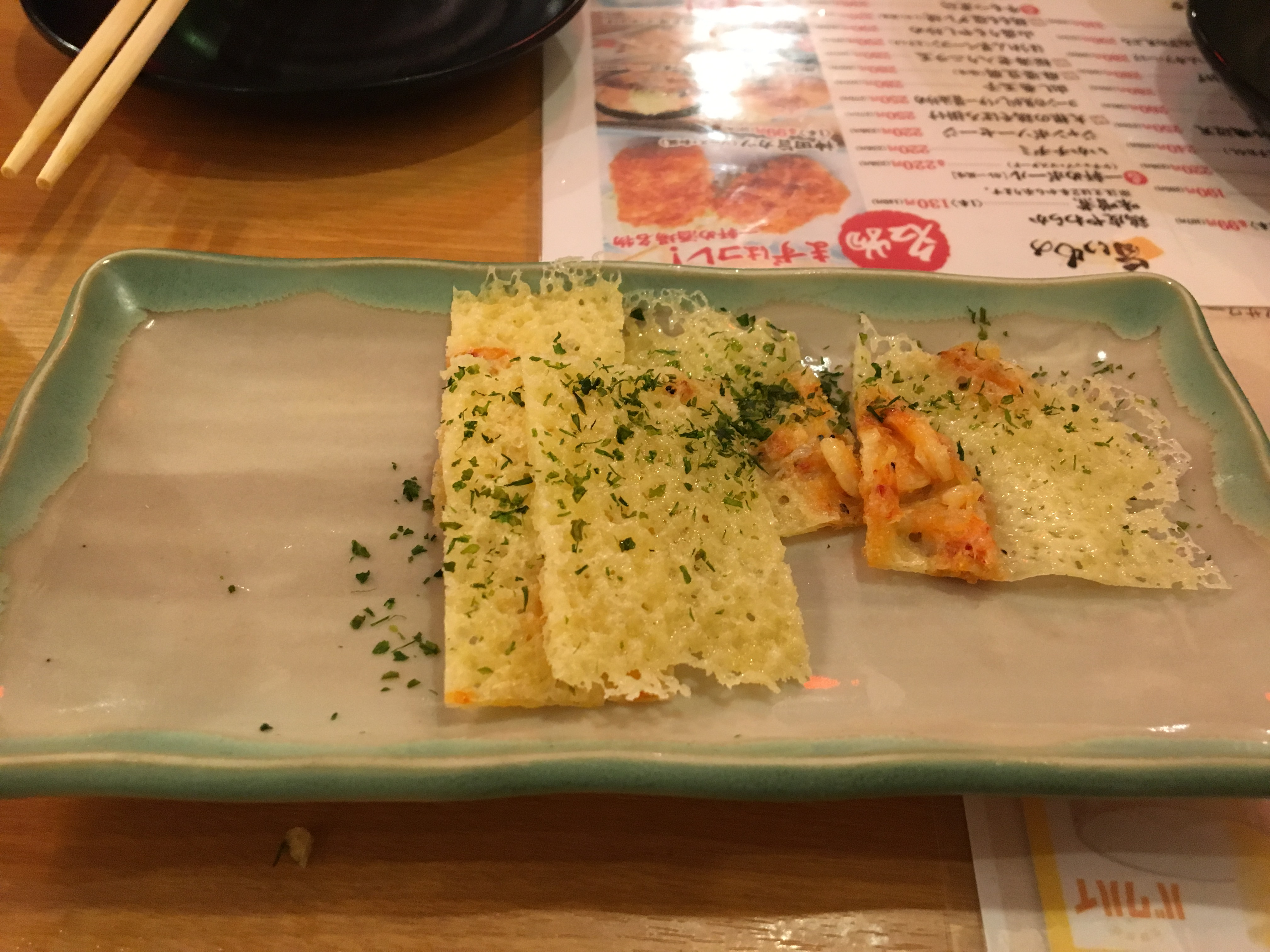 一軒め酒場 すすきの店の桜海老のパリパリチーズせんべい